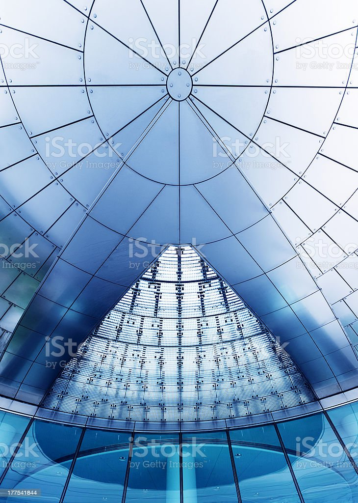 Modern futuristic glass roof royalty-free stock photo