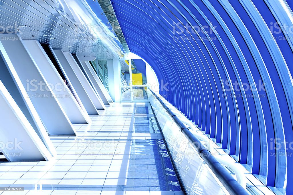 modern futuristic hall royalty-free stock photo