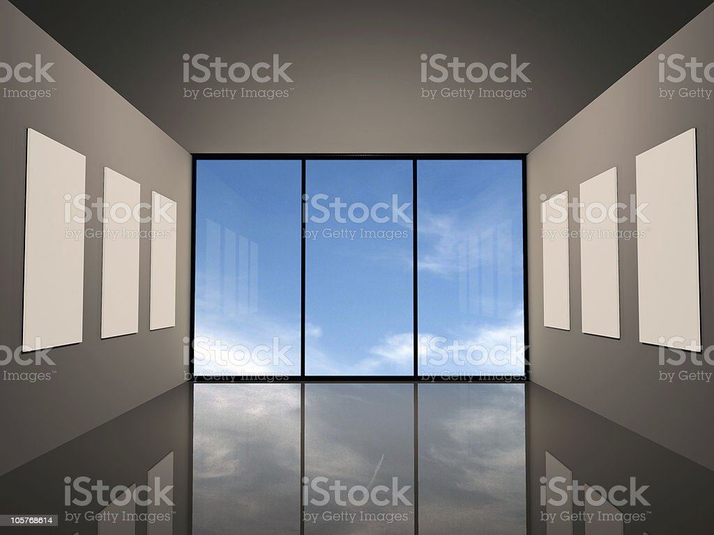 Modern gallery royalty-free stock photo