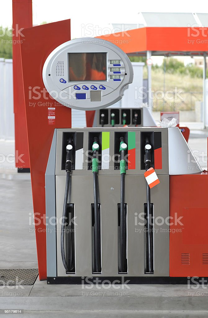 Modern gas station royalty-free stock photo