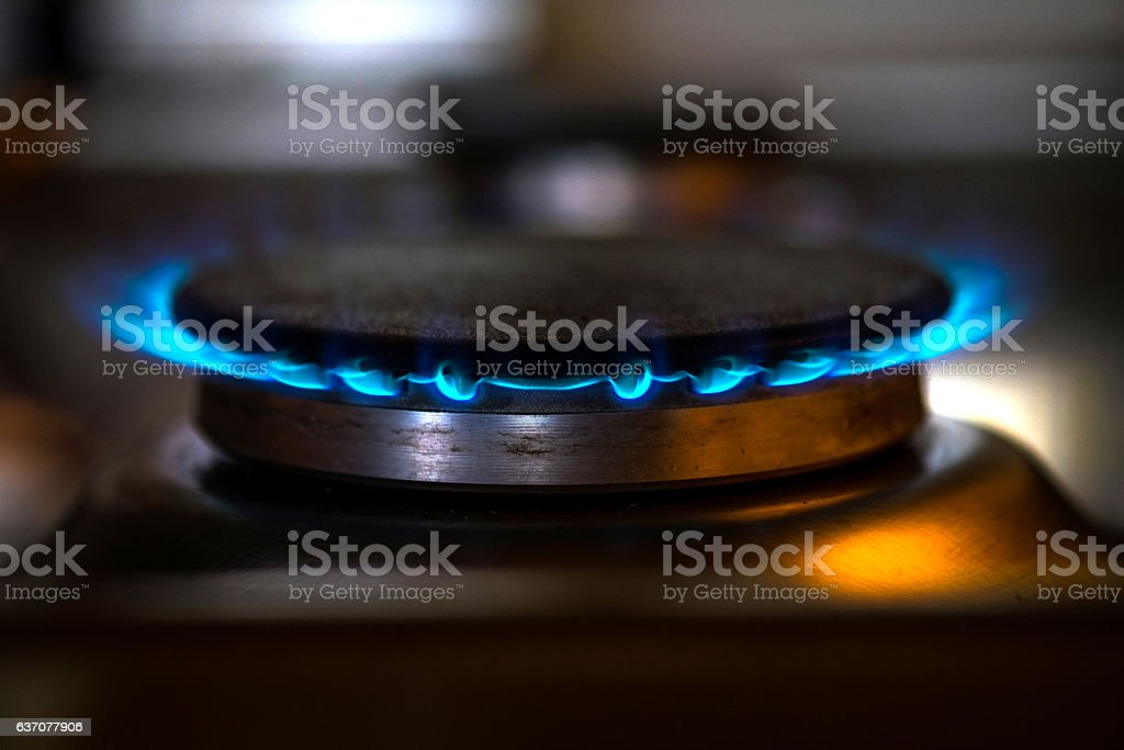 Modern Gas Stove Plate stock photo