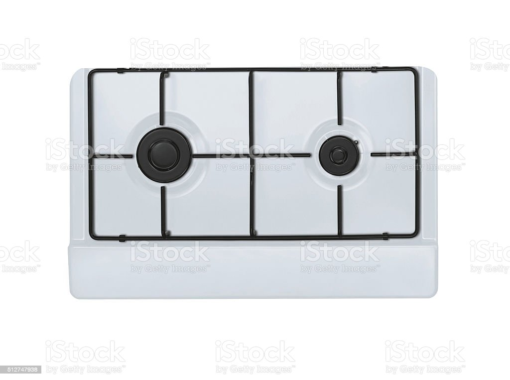 modern gas stove two burners stock photo