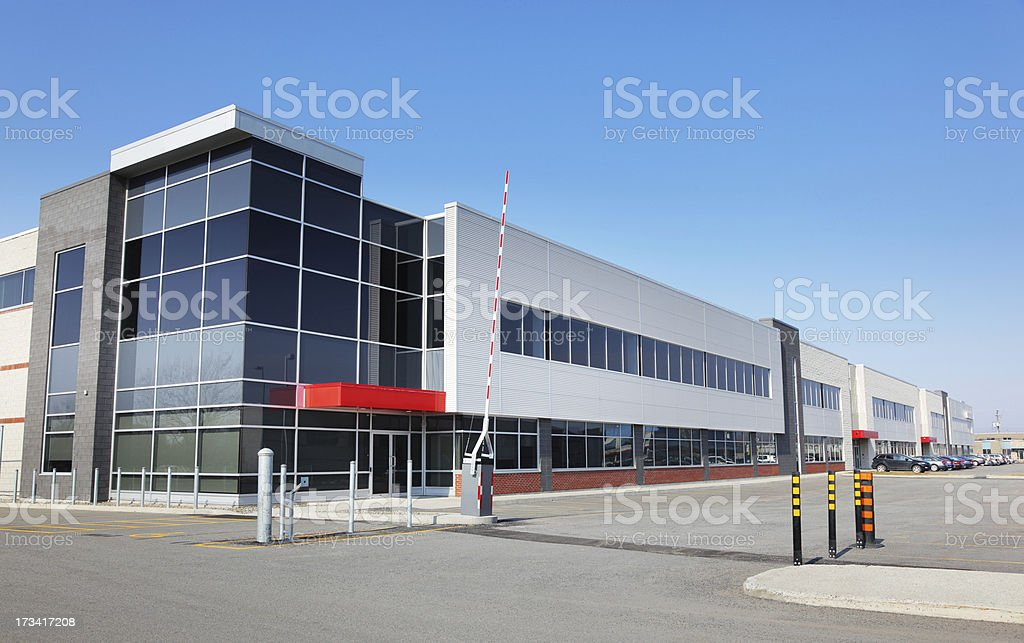 Modern Gated Access Industry stock photo