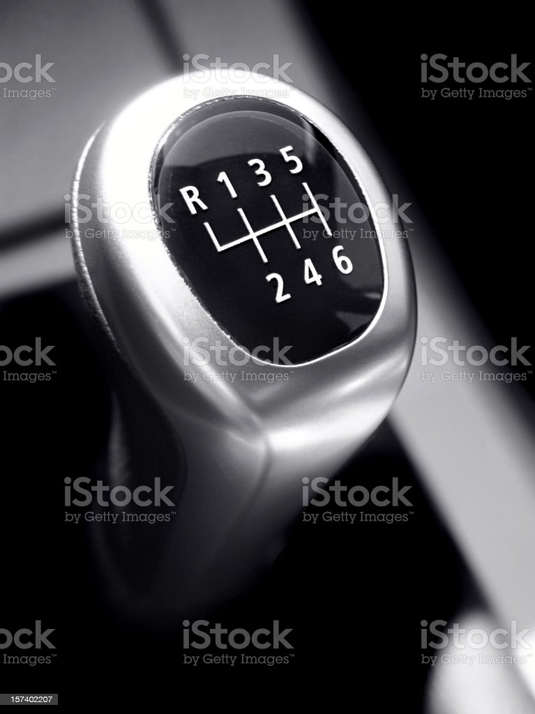 Modern Gearstick stock photo