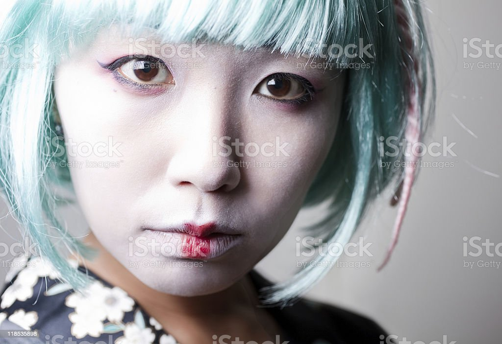 Modern Geisha royalty-free stock photo