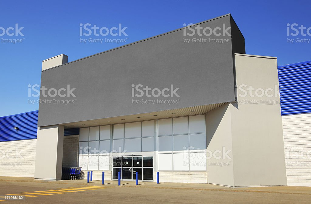 Modern Generic Marketplace Entrance stock photo