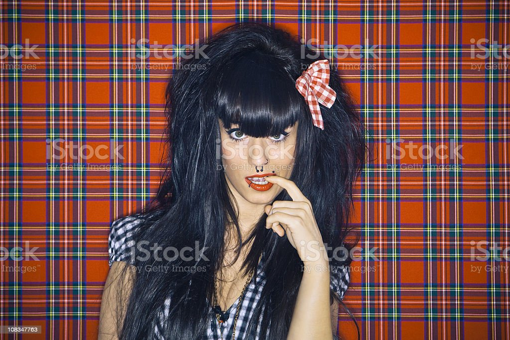 Modern girl in doubt royalty-free stock photo