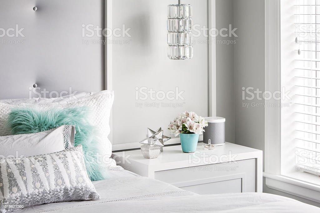 Modern Girls Bedroom – Detail stock photo