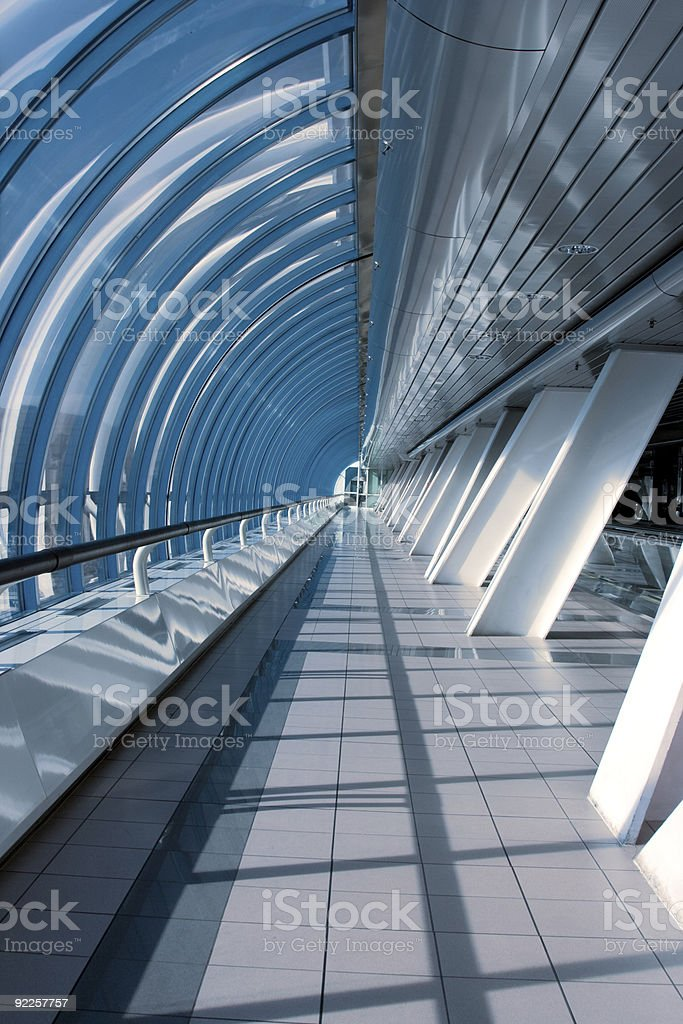 Modern glass and steel interior. royalty-free stock photo