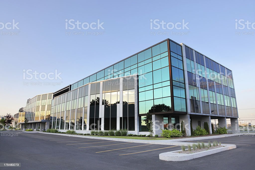 Modern Glass Building Exterior royalty-free stock photo