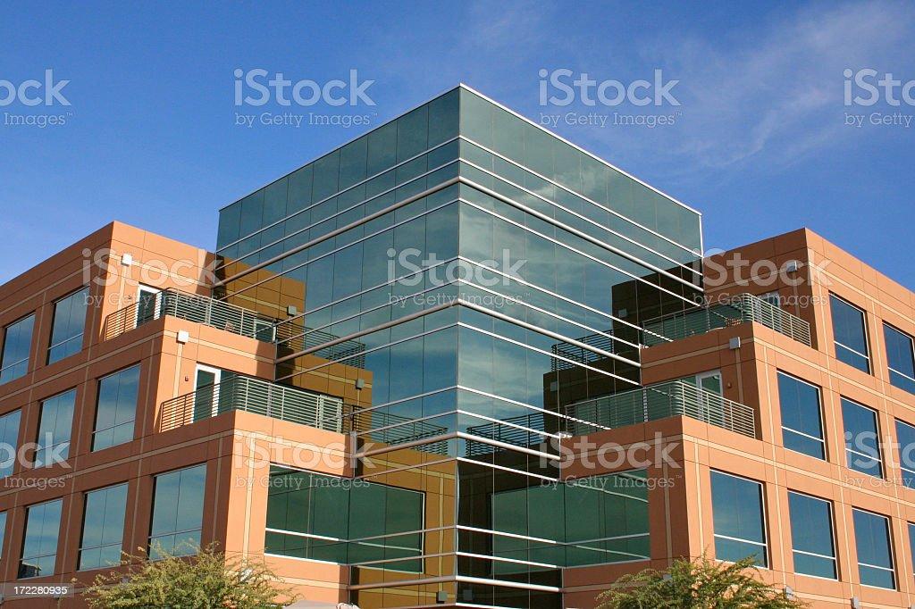 Modern Glass Building in Northwest Scottsdale Arizona royalty-free stock photo