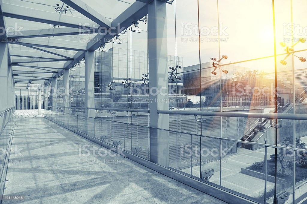 Modern glass building stock photo