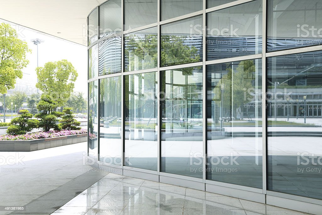 modern glass building skyscrapers of business center stock photo