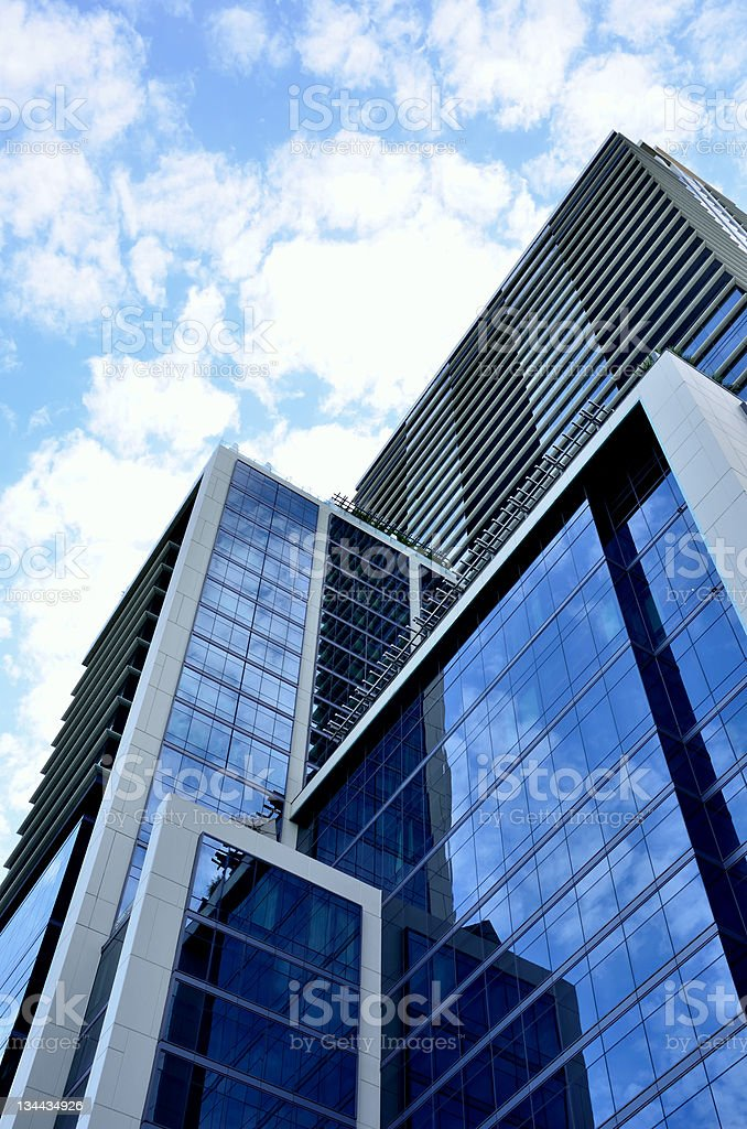 Modern Glass Business Skyscrapers royalty-free stock photo