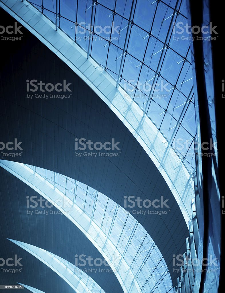 Modern Glass Ceiling stock photo