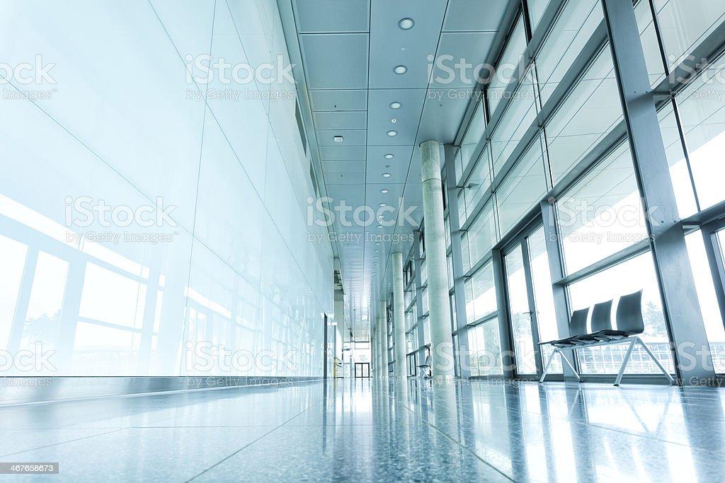 Modern Glass Corridor stock photo