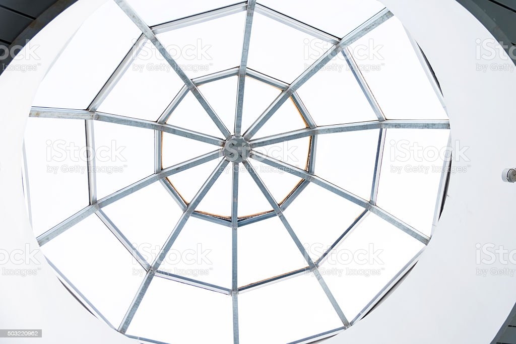 Modern glass dome stock photo