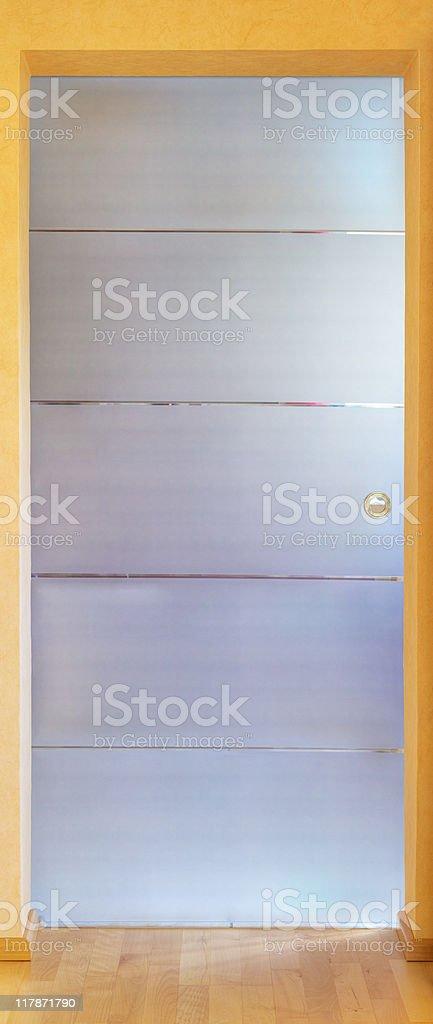 modern glass door royalty-free stock photo