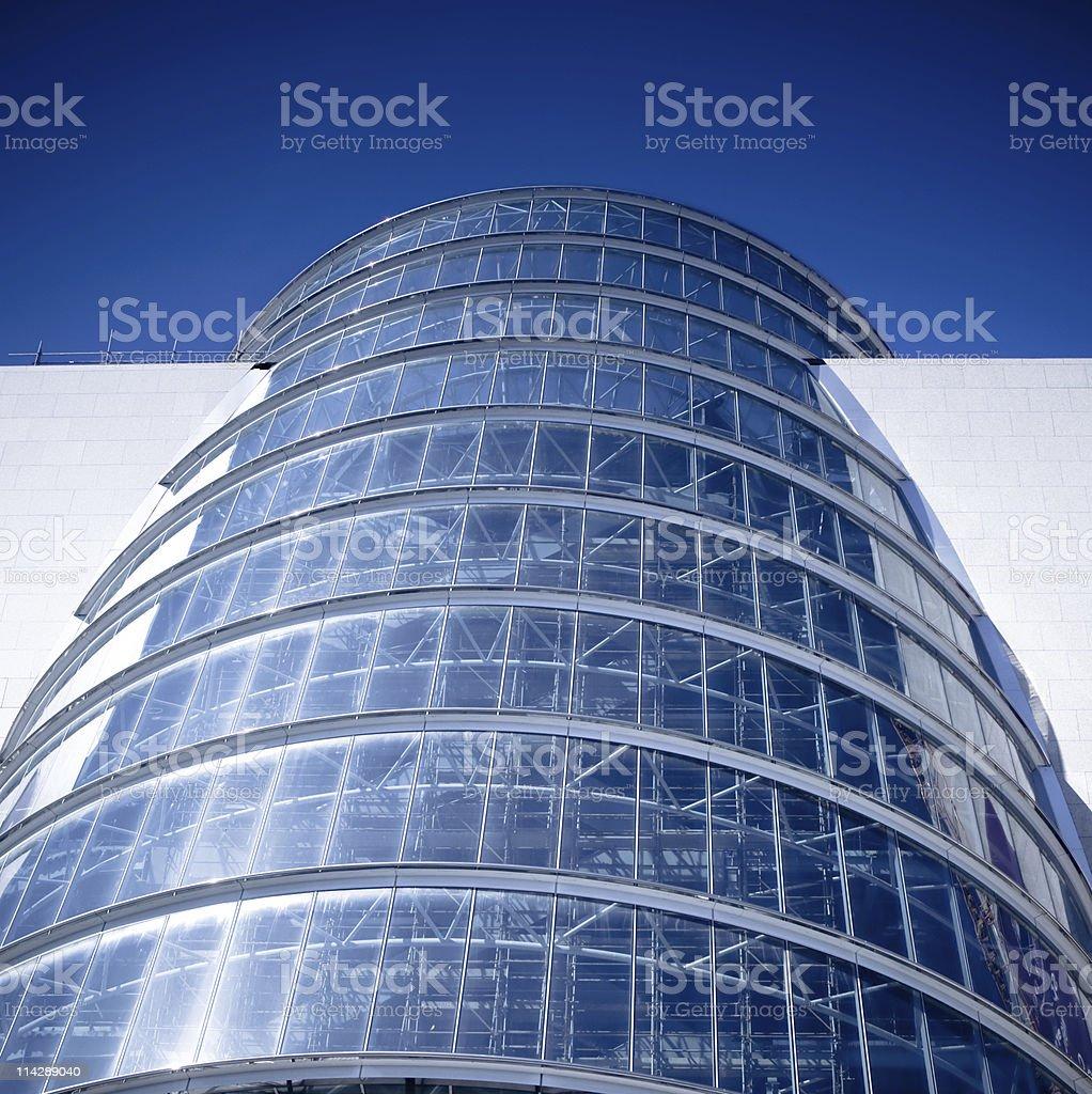 Modern glass facade building in Dublin stock photo