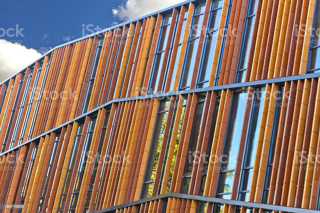 Modern glass office building royalty-free stock photo