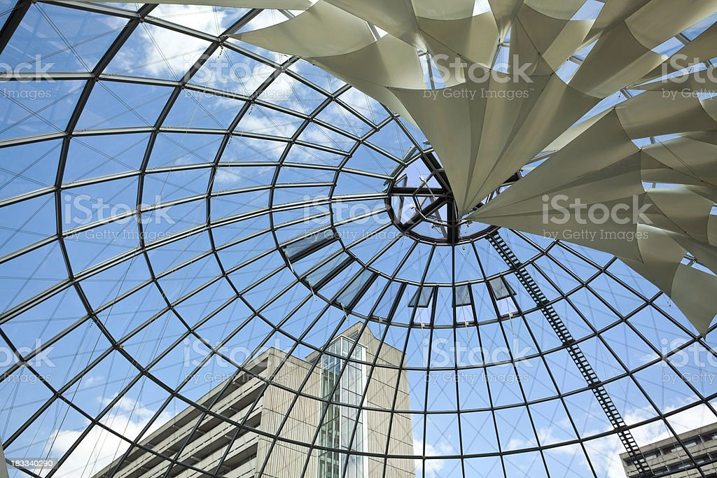 Modern Glass Roof royalty-free stock photo