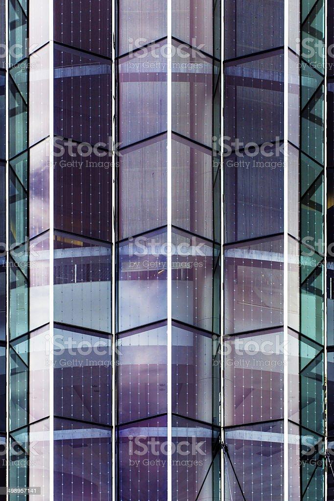 Modern glass silhouettes at siamparagon bangkok city stock photo