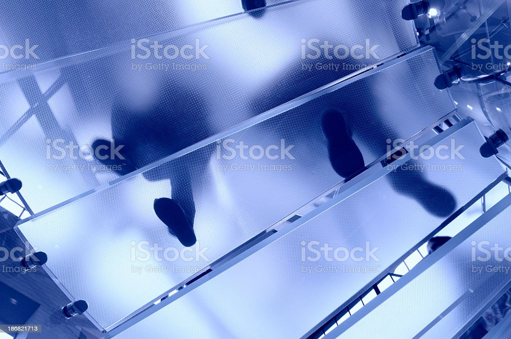 Modern Glass Staircase, NYC royalty-free stock photo