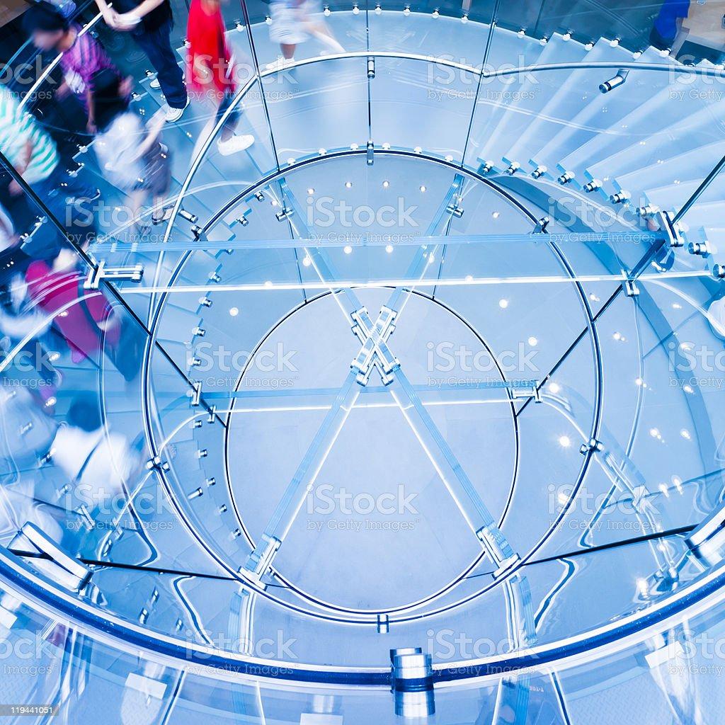 Modern Glass Staircase stock photo