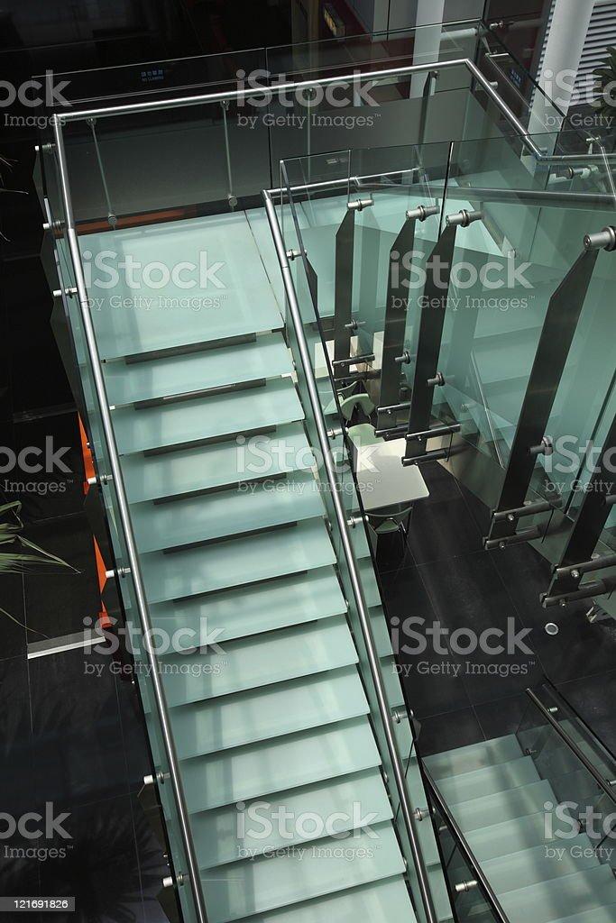 Modern Glass Staircase (XXXL) stock photo