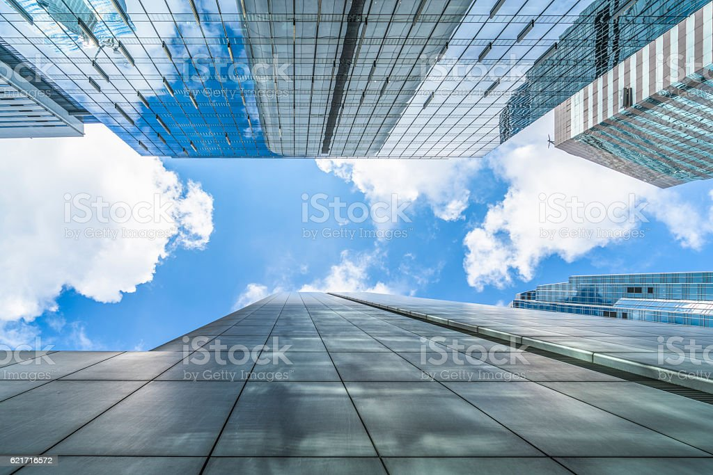 modern glass steel architecture stock photo