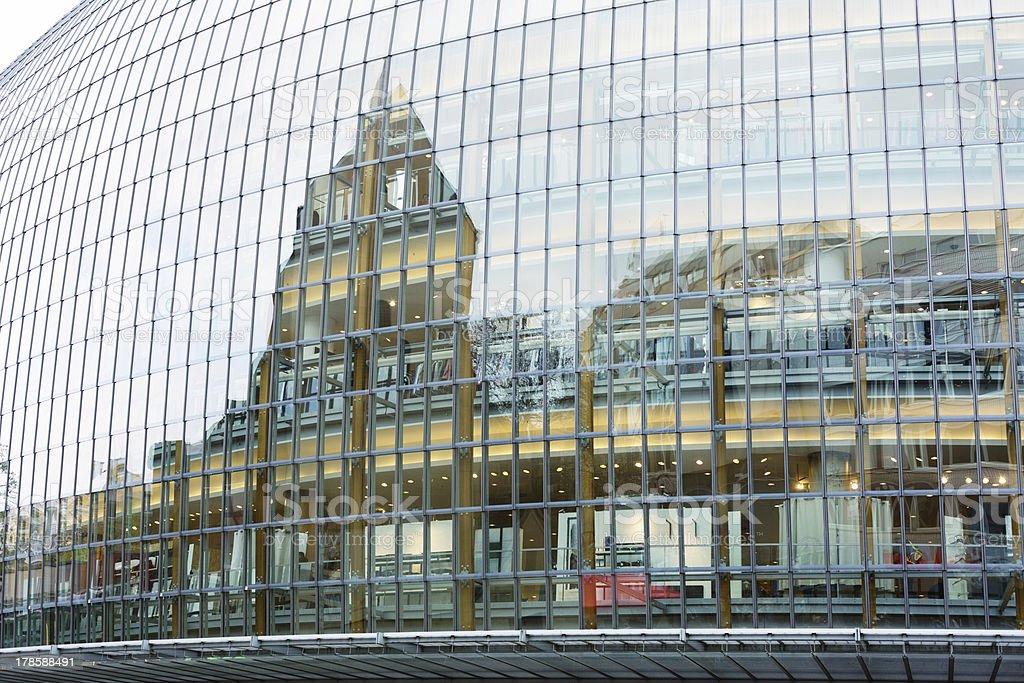 Modern glass trade center royalty-free stock photo