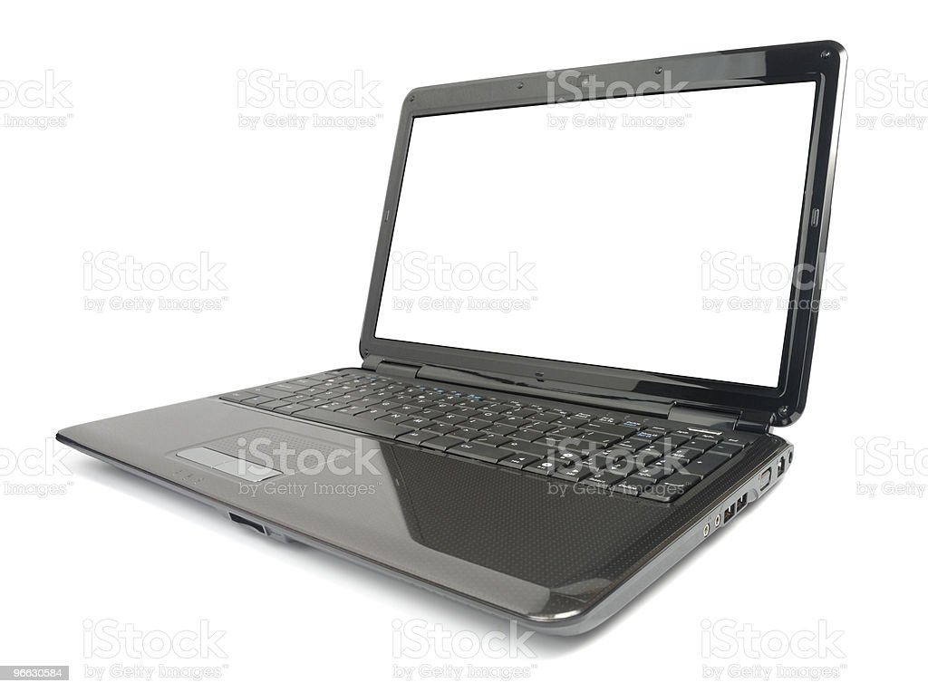 Modern Glossy Laptop stock photo