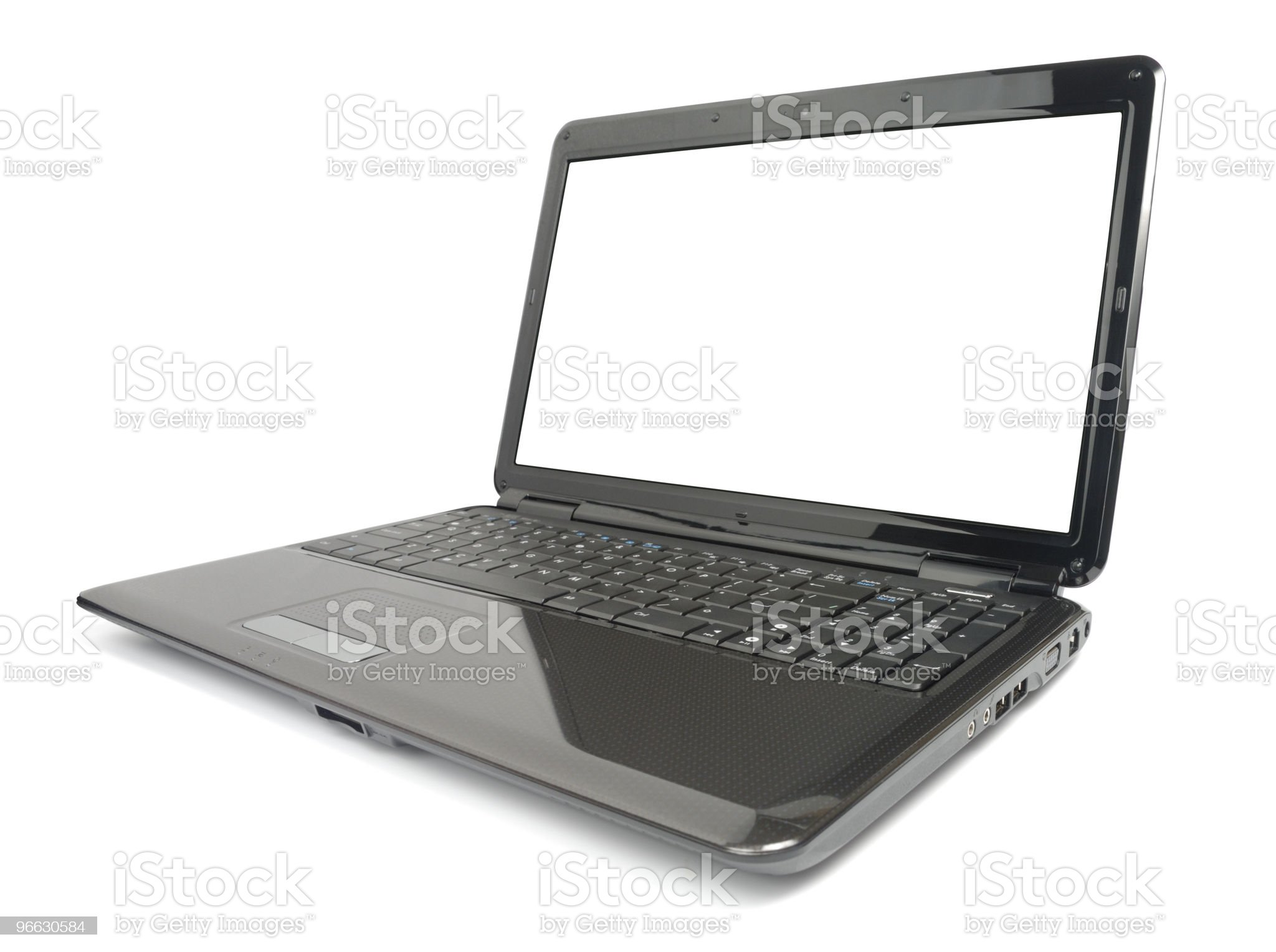 Modern Glossy Laptop royalty-free stock photo