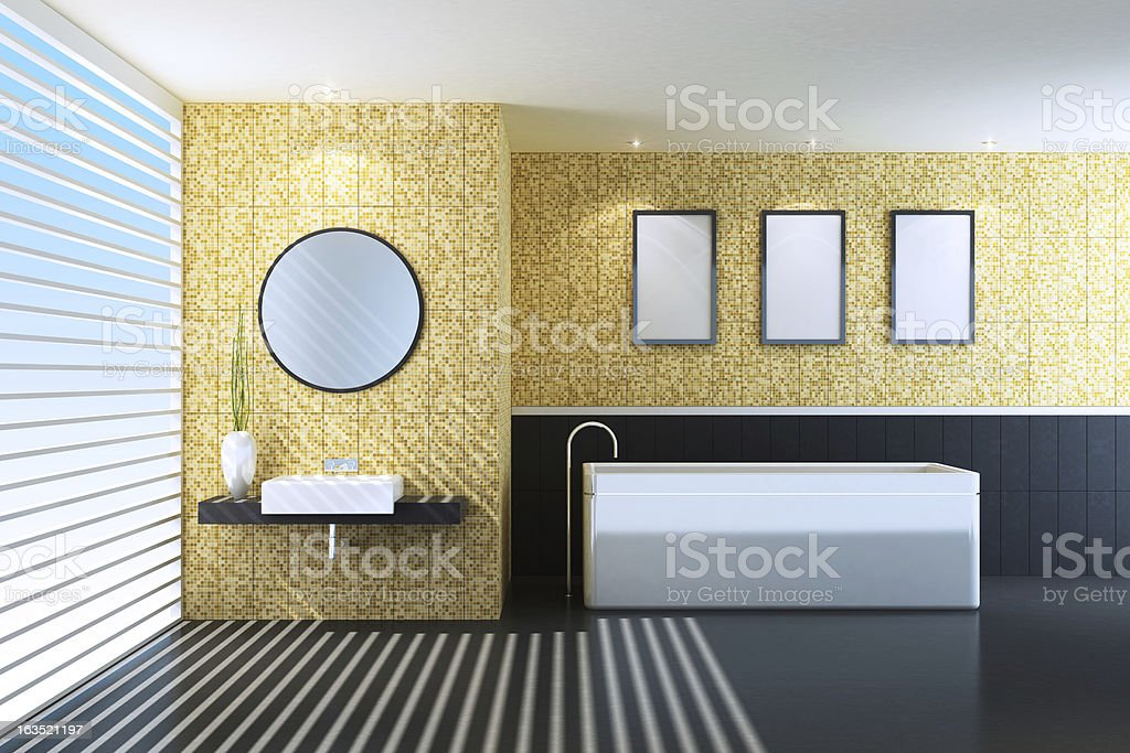 Modern Gold Bathroom royalty-free stock photo