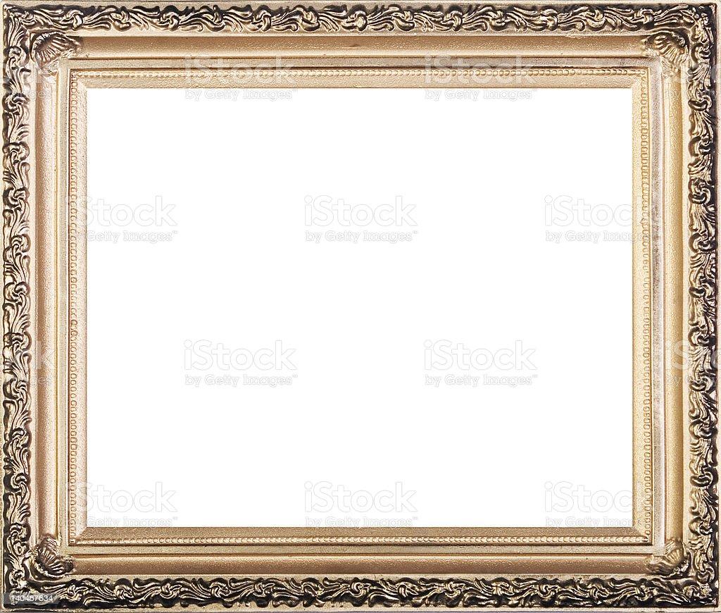 modern gold frame 5 stock photo