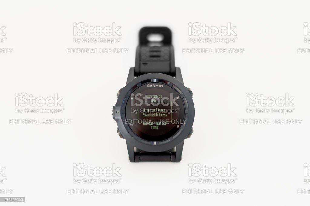 Modern GPS Smart Watch Garmin Tactix stock photo