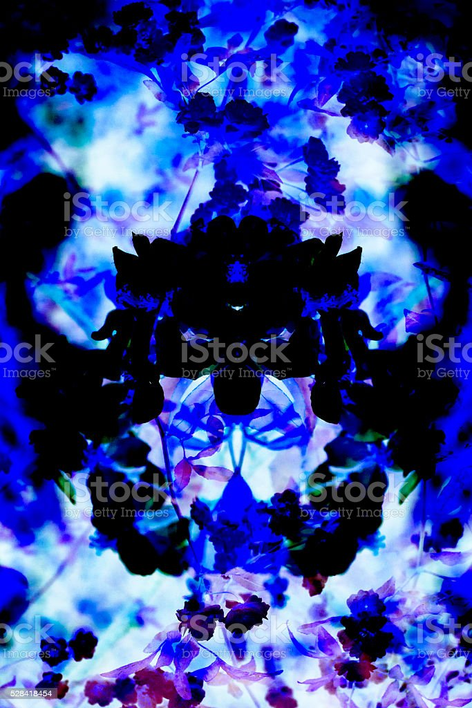 Modern Graphic Digital Floral Art Design stock photo
