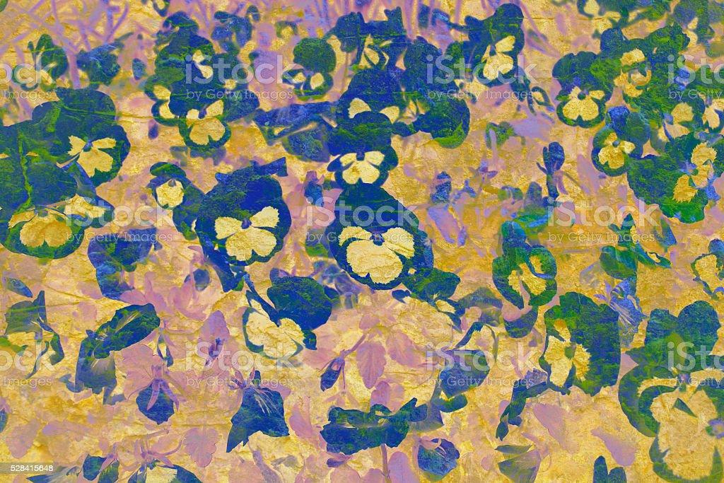 Modern Graphic Digital Floral Art DesignOld stone wall stock photo