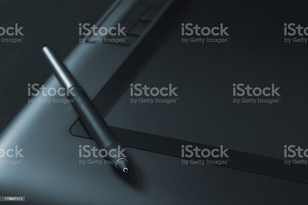 Modern graphic tablet. royalty-free stock photo