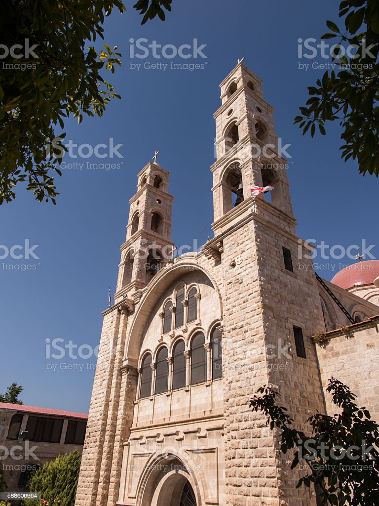 Modern Greek Orthodox convent in at Nablus in  West Bank stock photo