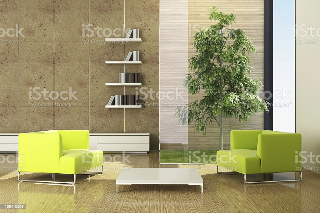 Modern Green Eco House royalty-free stock photo