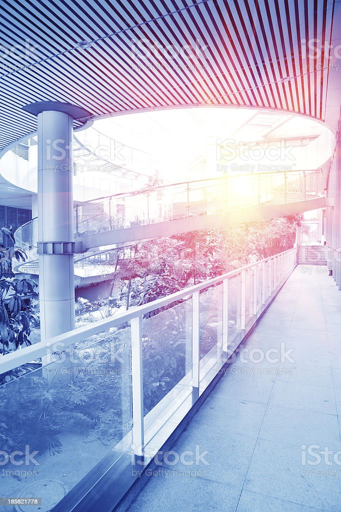 Modern green office building royalty-free stock photo