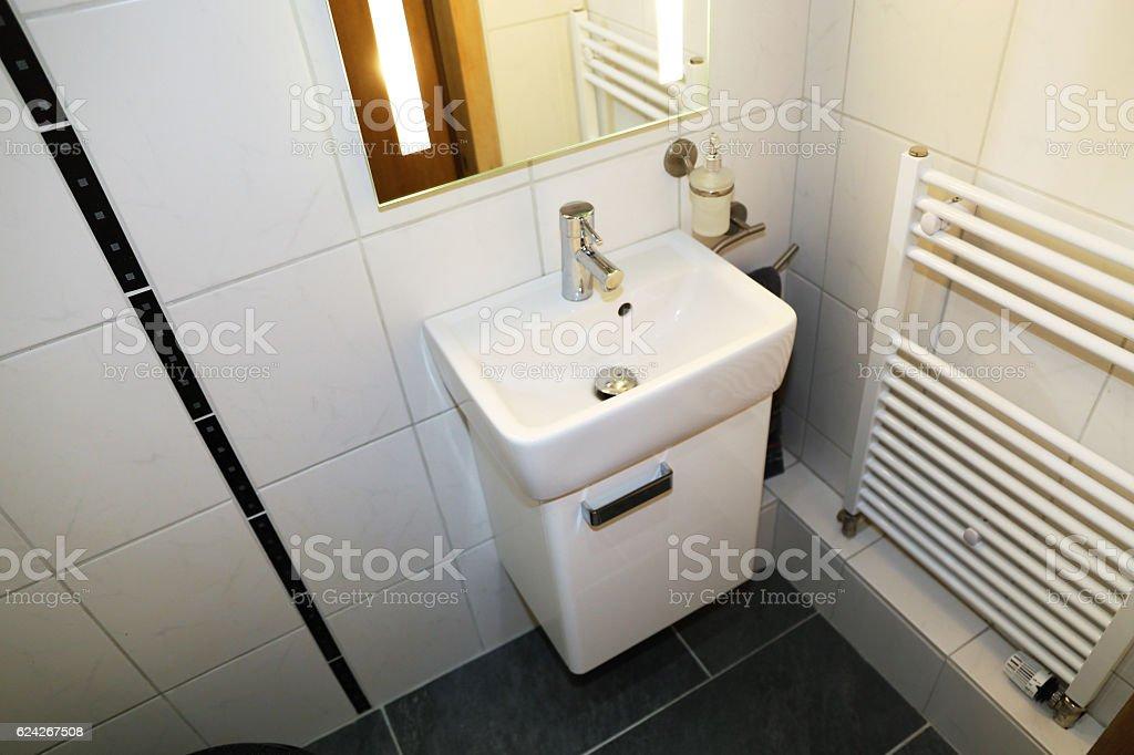 Modern guest bathroom stock photo