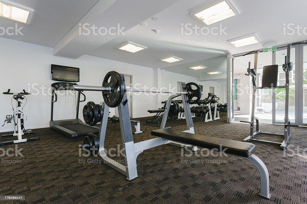 Modern gym royalty-free stock photo