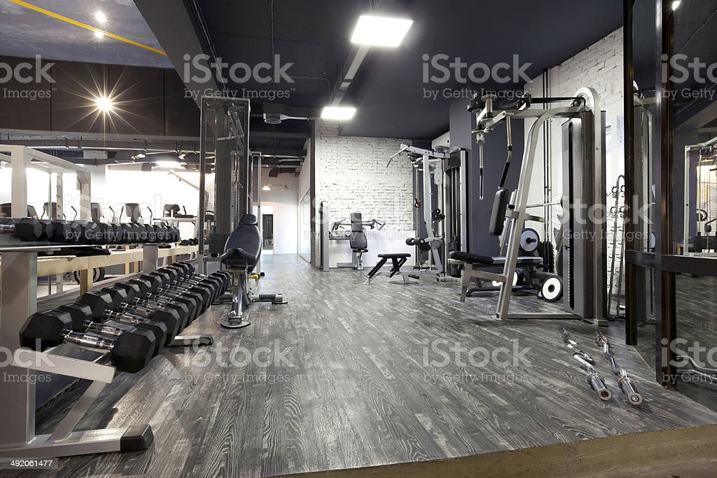 Modern gym stock photo