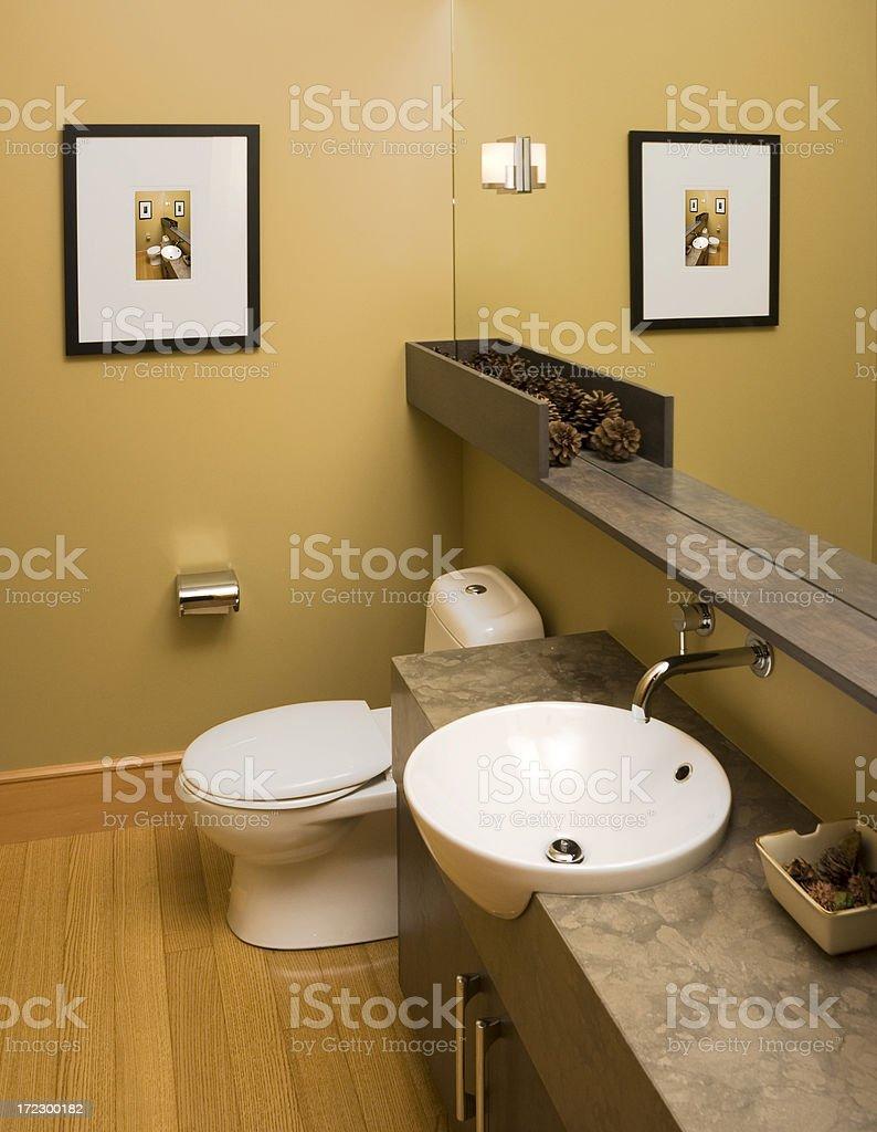 Modern Half Bathroom royalty-free stock photo