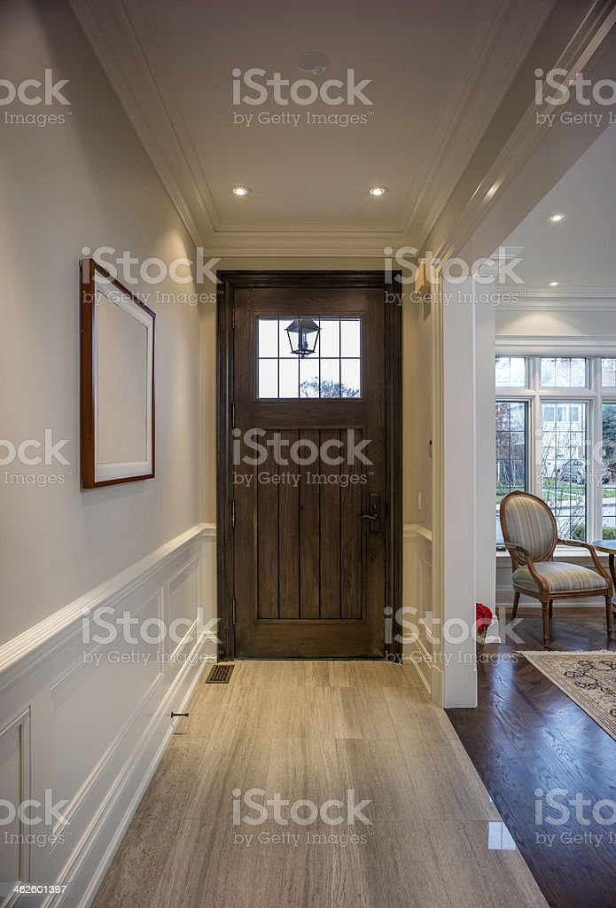 Modern hallway interior stock photo