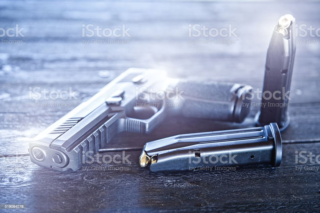 Modern Handgun, Pistol stock photo