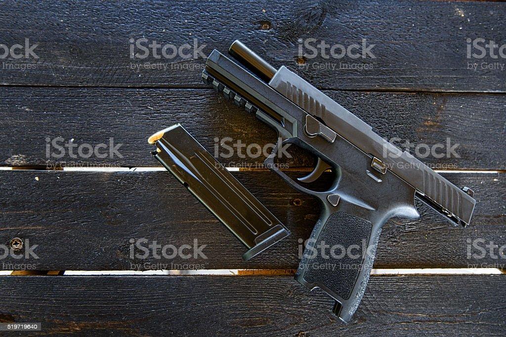 Modern Handgun, Pistol stock photo