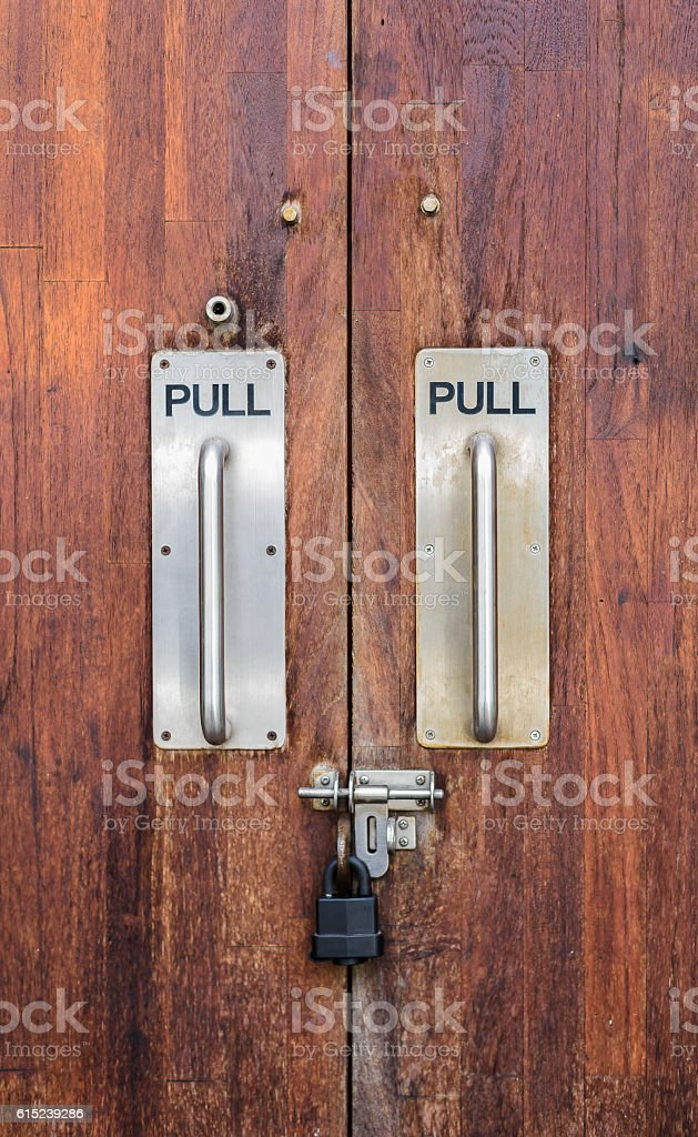 modern handle door with lock stock photo